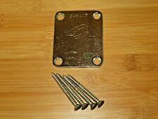 Fender 1968 Chrome F Logo Four Bolt Neck Plate