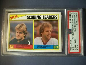 ANDERSON/MOSELEY 1984 Topps Football Scoring LL #205 PSA NM-MT+ 8.5 Steelers
