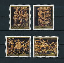 Yugoslavia 2082-5 MNH, Religious Carvings, 1990