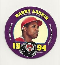 1994 MSA King B - Quality Meat Snacks - Disc - #17 - Barry Larkin - Reds