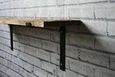 Metal Shelf Brackets 220mm Scaffold Board Industrial Steel Shelving (Set of 2)