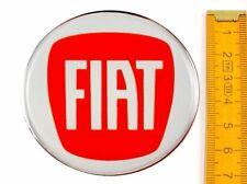 FIAT★ 4 Stück ★ SILIKON Ø70mm ROT Aufkleber Emblem Felgenaufkleber Radkappen