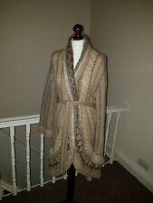 Noa Noa 2xl Mohair Wool Blend Long Wrap Belt Cardigan Hippie Boho Designer