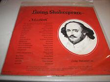 Living Shakespeare Macbeth Michael Redgrave Barbara Jefford LP NM N8OY-8834 1962