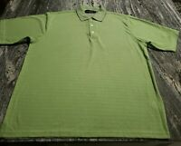 Bugatchi Uomo Mens XL Short Sleeve Polo Golf Shirt Green