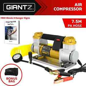 Portable 12V Air Compressor Tyre Pump Inflator 4WD 4x4 Car Bike Truck 200L/MIN