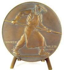 Médaille Métallurigie Hoboken Belgique fondeur fonderie founder foundry Medal