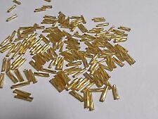 BUGLE BEADS 6mm GOLD 50g Glass Tube Twirl Swirl Long Hollow Jewellery 1300pcs