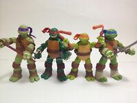 Teenage Mutant Ninja Turtles 4x Action Figures Set: Leo Ralph Donnie Mickey NEW