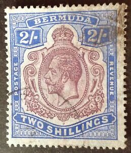 Bermuda 1924 -32 2 Shilling purple & blue stamp vfu