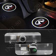 4x White LED Logo Door Step Courtesy Shadow Laser Lights For Infiniti QX60 JX35.