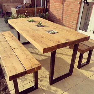 Outdoor Sleeper Table Sets