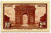 "FRANCE STAMP TIMBRE YVERT N° 258 "" ARC DE TRIOMPHE DE L'ETOILE 2F "" NEUF x TB"