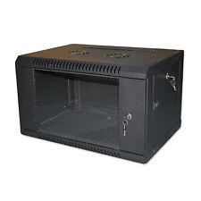 "4U 19"" BLACK NETWORK CABINET DATA COMMS WALL RACK - FLAT PACKED 600x300mm"