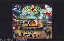 Yugoslavia - 2002 Europa (Circus) - U/M - SG MS3348