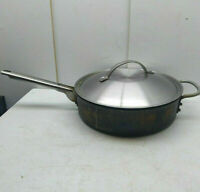 Calphalon Hard Anodized Aluminum 3 Qt Saucepan Stir Fry Saute Pot Casserole Lid