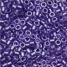 Miyuki Delica Seed Beads Size 11/0  Sparkling Purple Lined Crystal 7.2g (DB906)