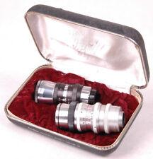 Vtg ELITAR SOLIGOR Lenses-8mm Movie Lens, f1.9 Combo Set-Original Box-Germany