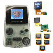 Clear White Refurbished Game Boy Color GBC Console With Highlight Back Light LCD