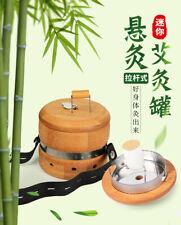 Bamboo Wood Moxa Stick Roll Holder Healing Therapy Massager Moxibustion Box Tool