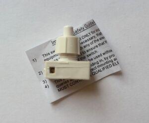 White Push Switch Tabe Lamp Desk Light Mini Light switch 2A Push button