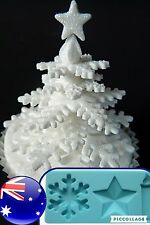 CANDEL STAR SNOWFLAKE  Baking Tool Cake Fondant Decorating Silicon Mold Mould