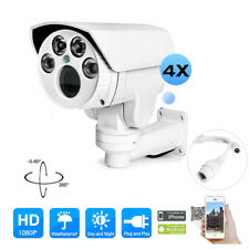 2MP Mini PTZ 4x Optics Zoom IP Camera Outdoor IR 1080P TF Card Slot (No POE)