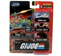 Jada 2020 Nano Hollywood Ride 1.65 NV-18 G.I. Joe Collector 3pc Diecast Vehicles