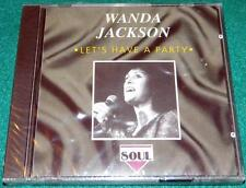 WANDA JACKSON, Let's Have a Party, CD, IMPORT, NEW (ROCKABILLY)