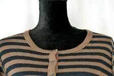 Sonia Rykiel Women's Button Up Sweater Sz Large Striped Long Sleeve Lightweight