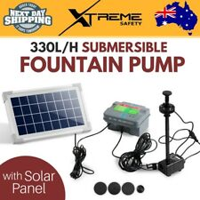 Indoor and Outdoor 330L/H Submersible Fountain Brushless DC Pump w/ Solar Panel