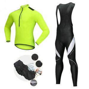 2021 Men Cycling Long Sleeve Jersey Bib Kit Team Clothes Bicycle Bike Race Shirt