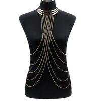 Body Chain Women Jewelry Harness Bikini Us Chest Necklace Rhinestone Crystal Bra
