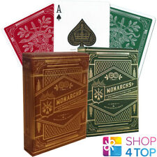 2 DECKS MONARCHS THEORY 11 PLAYING CARDS MAGIC TRICKS SEALED 1 RED 1 GREEN NEW