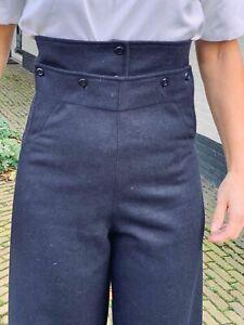 WW2 vintage WRNS WRENS Womens Royal Naval Service Navy serge wool bell trousers
