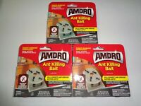 Lot 3-4 Packs Amdro Ant Killing Indoor Bait Stations 12 Total Sealed w/Adhesive