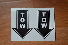 """2 Tow Hook Decal Stickers JDM NHRA ADRL Drag Racing illest dope Black 5.5"""""""