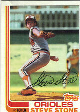 1982 Topps Steven Stone Baltimore Orioles #419 Baseball Card
