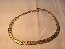 Trifari Textured Goldtone Choker Necklace Jewelry