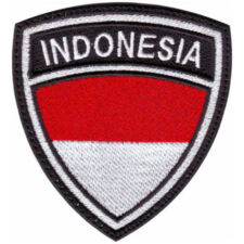 INDONESIA CREST BADGE FLAG EMBROIDERED SEW ON PATCH