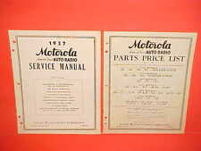 1937 MOTOROLA AUTO RADIO SERVICE MANUAL 35 45 65 70 GOLDEN VOICE w/PARTS LIST