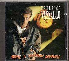FEDERICO VASSALLO CD COME I CARTONI ANIMATI fuori catalogo STAMPA ITALIANA