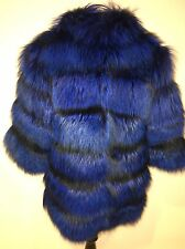 Genuine Blue Fox Fur Coat Amazing!