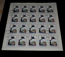 HAITI, 1975, 1 GOURDES, AUDUBON BIRDS, KINGFISHER, SHEET/20, CTO, NICE! LQQK
