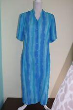 NEW UK 14 LONG TALL SALLY Summer Shirt Dress Beach Cover-up Linen Blend (252)