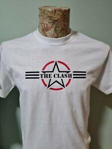 The Clash Air Force logo T-Shirt Mens Unisex White Joe Strummer London Calling