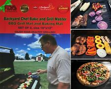 """Non-Stick Grill Mats from Backyard Chef Grill Master BBQ Accessories, 16""""x13"""""""