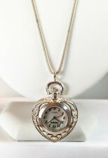 Pedre Women's .925 Sterling Silver Heart Pendant Watch with Chain #8170SX