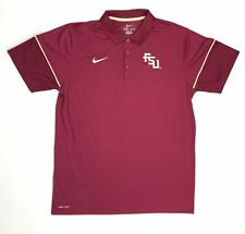 Nike Florida State FSU Seminoles Team Issue Polo Men's Large Maroon Red 746956