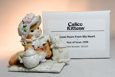 Calico Kittens: Love Pours From My Heart - 102210 - Tea Party on Blanket